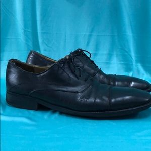 Mezlan Squared-Toed Derby Shoes